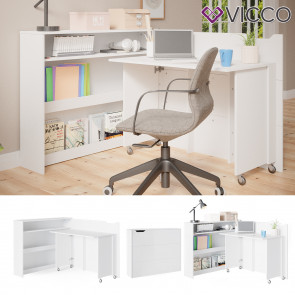 Vicco Schreibtisch Franko Arbeitstisch Computertisch PC-Tisch Klappschreibtisch