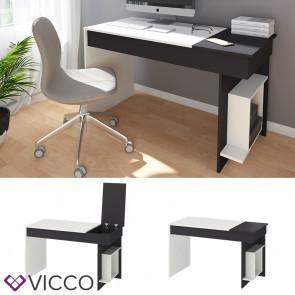 Vicco Schreibtisch Enea Arbeitstisch Computertisch PC Bürotisch Weiß Anthrazit