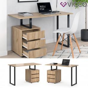 Vicco Schreibtisch Bürotisch Computertisch Adem 120x60cm PC-Tisch mit Ablagen