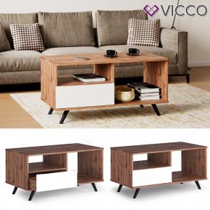 Vicco Couchtisch Wohnzimmertisch Beistelltisch Anno Eiche Kaffeetisch Holztisch