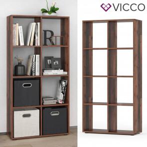 Vicco Raumteiler Standregal Bücherregal Scutum 8 Fächer Old Style Hochregal