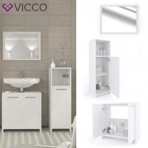 VICCO Badmöbel Set KIKO 3 Teile Weiß