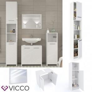 VICCO Badmöbel Set KIKO 4 Teile Weiß