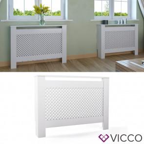 VICCO Heizkörperverkleidung Landhaus III 112 cm Weiß