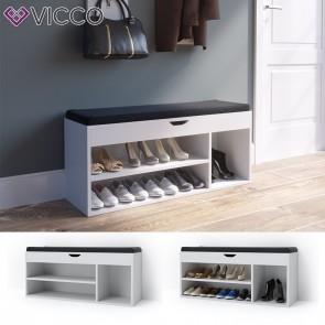 Vicco Schuhbank Stiefelfach Weiß