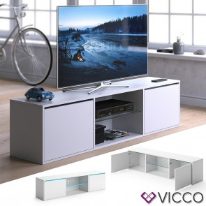 VICCO Lowboard PEGASUS Weiß mit LED Beleuchtung