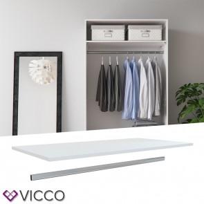 VICCO Kleiderschranksystem COMFORT 100er Kleiderstange + Einlegeboden