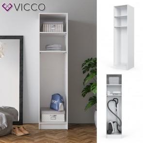 VICCO Kleiderschrank COMFORT offen Einlegeboden weiß 50 x 200 x 50 cm Schrank