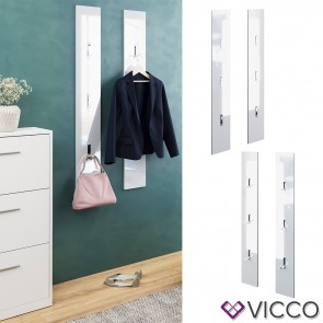 VICCO Garderobenpaneel BIANCA weiß hochglanz
