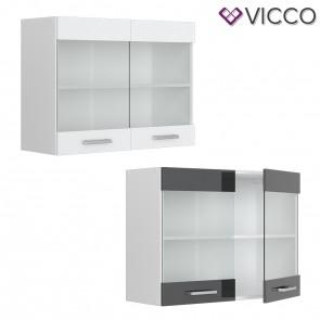 VICCO Hängeglasschrank 80 cm R-Line