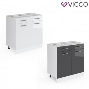 VICCO Schubunterschrank 80 cm R-Line