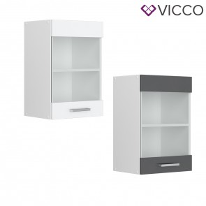 VICCO Hängeglasschrank 40 cm R-Line
