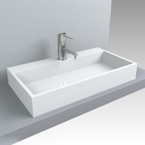 Design Waschbecken MARES 800 x 430 Waschtisch Aufsatzwaschtisch Waschplatz Aufsatzwaschbecken Waschschale Handwaschbecken