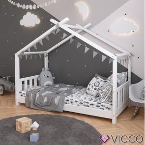 VICCO Hausbett DESIGN 80x160cm Holz Weiß