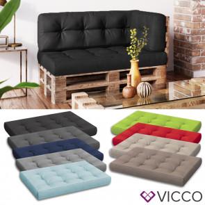 VICCO Palettenkissen Sitzkissen 120x80x15 Palettenmöbel Flocke
