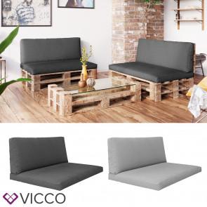 VICCO 2er 4er Palettenkissen Set Sitzkissen Rückenkissen Palettenmöbel