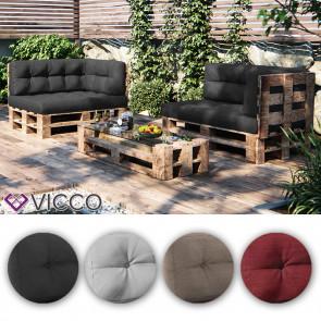VICCO 3er Palettenkissen Set Sitzkissen Rückenkissen Palettenmöbel PU Schaum
