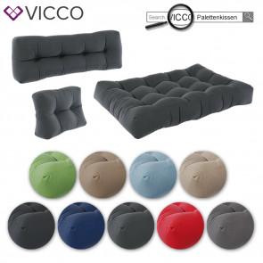 VICCO 7er Palettenkissen Set Sitzkissen Rückenkissen Palettenmöbel Flocke