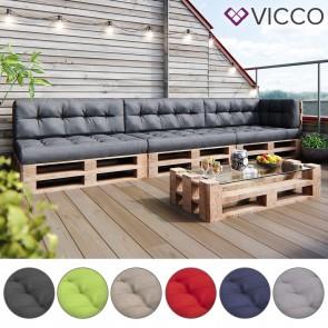 VICCO Palettenkissen Set 3+3+1