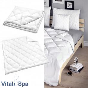 VitaliSpa Bettdecke Weiß Sommerdecke 200 x 200 cm