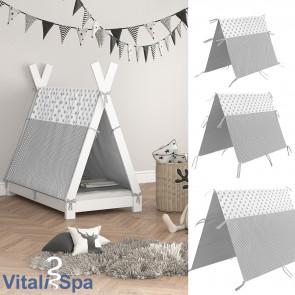 Vitalispa Überwurf Kinderbett Indianerzelt für Tipi